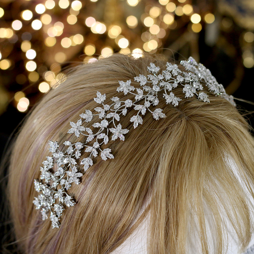 Image 4 - Luxury Bridal Crown Hairband Fashion Bridal Wreath Wedding 