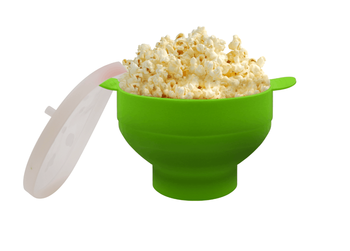 2020 New Popcorn Microwave Silicone Foldable Red High Quality Kitchen Easy Tools DIY Popcorn Bucket Bowl Maker With Lid - Green