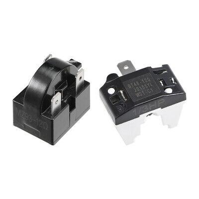 Refrigerator PTC Starter Relay 12 Ohm 3 Pin + Compressor Overload Protector 1/3HP