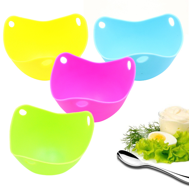 1 sztuk wysokiej temperatury jajo silikonowe kocioł kłusownictwo jajko formy miska pierścienie kuchenka kocioł kuchnia akcesoria do gotowania cztery kolory