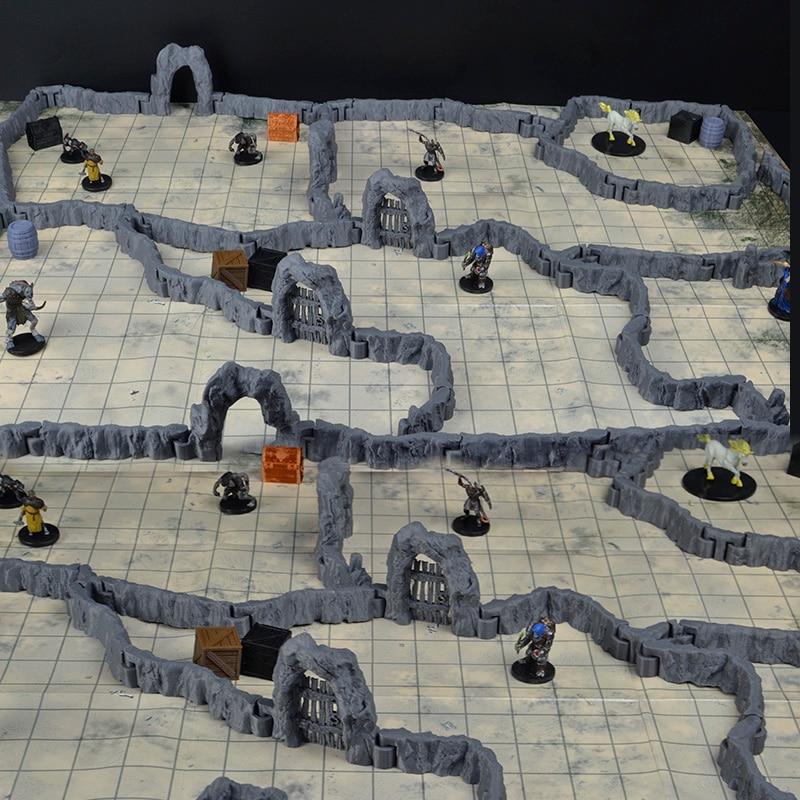 TRPG Dungeons Miniature Dragons Bbg Game Monster Beast Cave Stone Door Wall Sets Tools EC3D Models Figures Accessories