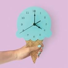 1pcs Clocks Pendants Cartoon Cloud Raindrop Icr Cream Shaoed Wall Clock Children Bathroom Hanging Ornaments Decoration 28*1