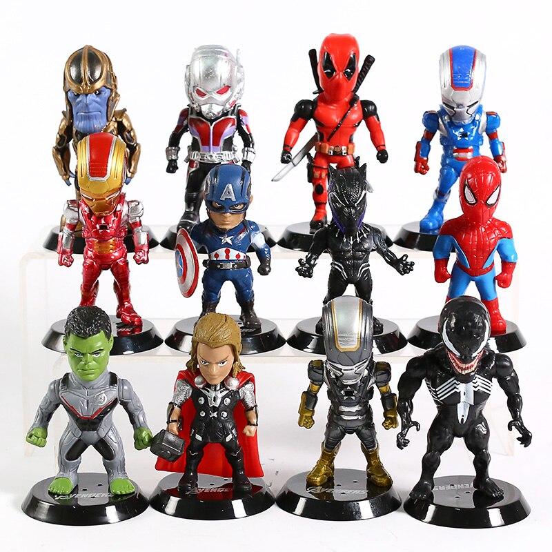 marvel-font-b-avengers-b-font-spiderman-thor-hulk-iron-man-thanos-ant-man-deadpool-venom-figure-model-toys-12pcs-set