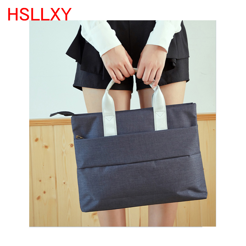 14 15 Inch Laptop Briefcase Bag Handbag Nylon Briefcase Office Bags Business Computer Bags Blue Men And Women Computer Bag