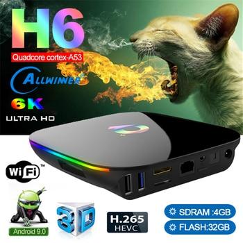 iLEPO Q Plus Android 9.0 Smart TV BOX Allwinner H6 Quad Core RAM 4GB ROM 32GB 2.4Gl WiFi 6K USB3.0 VP9 H.265 Set top box
