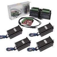 4 Axis kit cnc Nema 23 2.5N 100mm stepper motor driver TB6600 + USB mach3 Controller card cable+ 350W 36V power supply