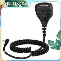 Retevis-RS-112 de walkie-talkie resistente al agua IP54, altavoz remoto con micrófono con conector de 3,5mm, PTT, Para Kenwood, Baofeng, UV5R, UV82