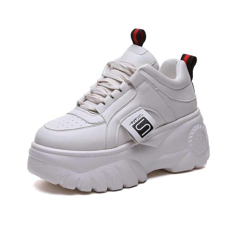 LZJ Yüksek Kaliteli Eğitmenler kadın Platformu Ayakkabı Kadın Ayakkabı Nefes Rahat Kadın Koşu Tıknaz Ayakkabı Artı Boyutu 35- 39
