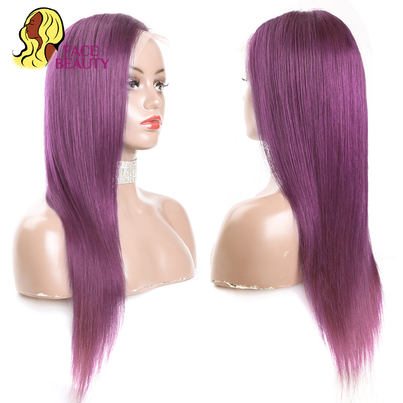 Image 4 - Facebeauty #350 Long Straight Human Hair Wigs Brazilian Remy Orange Colored Glueless Lace Front Wigs Pre Plucked Free Shipping-in Human Hair Lace Wigs from Hair Extensions & Wigs