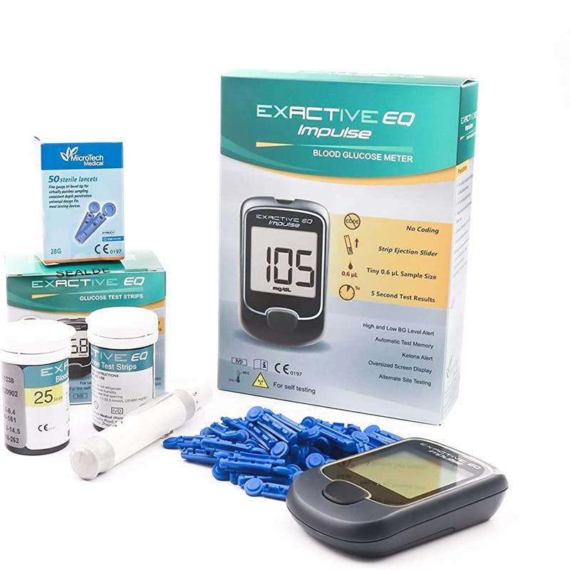 Глюкометр MICROTECH медицинский с ланцетами, бытовой автоматический прибор для измерения уровня сахара в крови