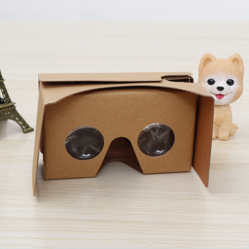 Google Cardboard Virtual Reality Glasses VR corrugated paper simple 3D Glasses small gadget do it yourself headset