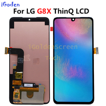6.4 for thinpara lg g8x thinq display lcd com tela de toque digitador substituição com ferramentas para lg g8x display lcd