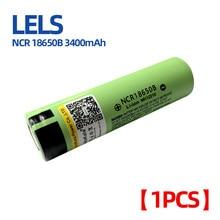 LELS NCR18650B 3.7V 3400mAh 18650 batterie Rechargeable au Lithium pour piles de lampe de poche (pas de carte PCB)