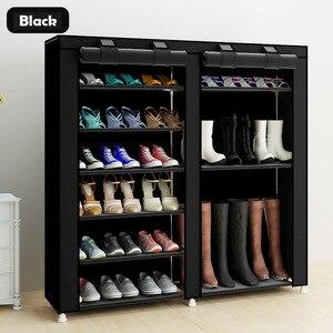 Image 1 - 43.3 אינץ 7 שכבה 9 רשת לא ארוג בדים גדול נעל rack ארגונית נשלף נעל אחסון עבור בית ריהוט ארון נעליים