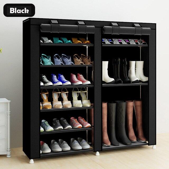 43.3 אינץ 7 שכבה 9 רשת לא ארוג בדים גדול נעל rack ארגונית נשלף נעל אחסון עבור בית ריהוט ארון נעליים