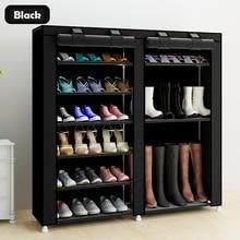 Estantería para zapatos de 43,3 pulgadas de 7 capas de 9 telas no tejidas organizador grande para zapatos Almacenamiento de zapatos extraíble para muebles de hogar armario de zapatos