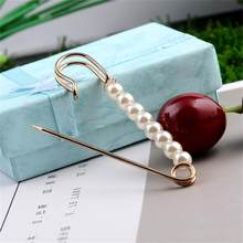 Women Hot Charm Three Pearl Blouse Shirt Collar Stick Pin Scarf Safety Pin Brooches Sweater Jewelry Fashion Clothes Decors New(China)