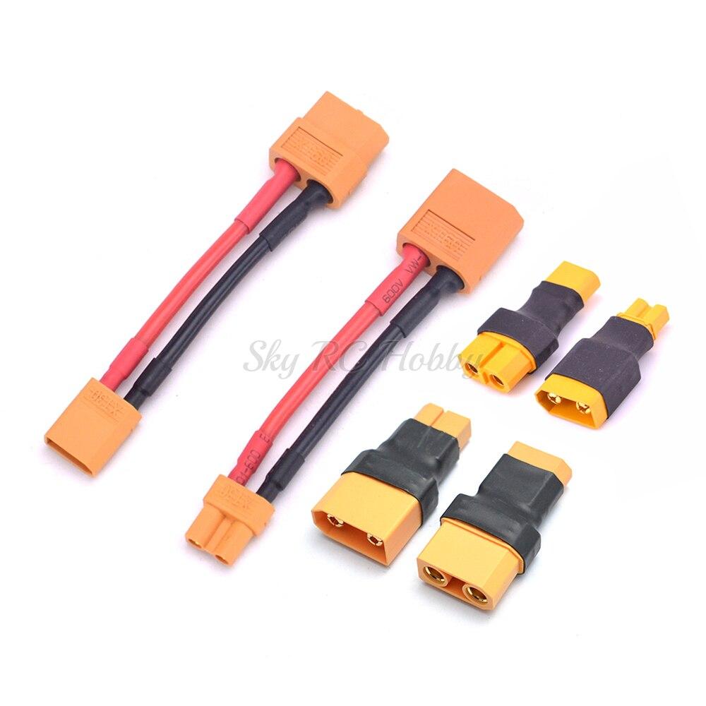 XT60 мужской/женский разъем к XT30/XT90 переходник/14AWG кабель провода для RC Lipo батарея ESC двигатель Дрон