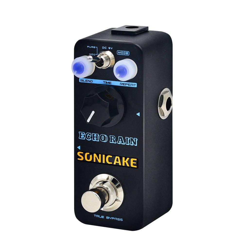 Sonicake Echo Rain Digital Delay Guitar Effect Pedal True Analog Signal Path Clear Warm Feedback QSS-03