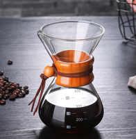 Cafetière expresso classique style entonnoir verser sur la cafetière Machine à café filtre cafetière 400 ml/1 tasses