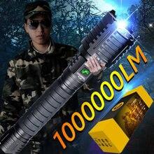 1000000LM XHP160 16 Core longue Distance lampe de poche LED 10000mAH lampe de poche USB Rechargeable Zoom torche auto-défense main torche
