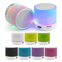 Mini Bluetooth Speaker Wireless Columnar Loudspeaker LED Stereo Subwoofer TF Card USB Mp3 Audio Music Player