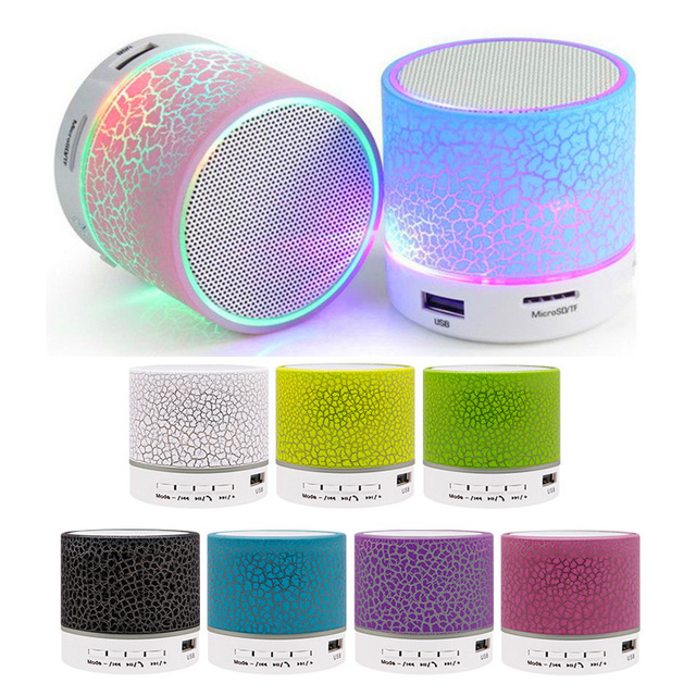 Mini Bluetooth Speaker Wireless Columnar Loudspeaker LED Stereo Subwoofer TF Card USB Mp3 Audio Music Player
