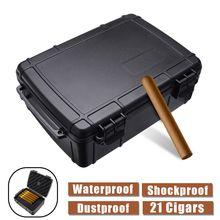 Travel Humidor Storage-Box Cigar-Holder Black Shockproof