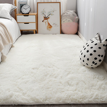 Bedside Rug Crawling-Carpet Thick-Mats Bedroom Living-Room Home-Decoration Plush White