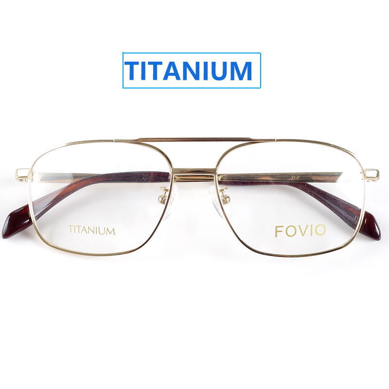 Classic rectangle spectacles titanium glasses frames for men and women gold/silver/black/greyMens Eyewear Frames   -