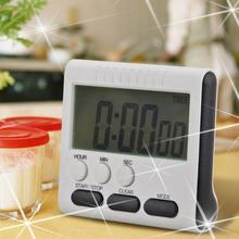 🔥 1pcs Black Magnetic Kitchen Count Up Down Digital LCD Timer For Cooking Study High-quality