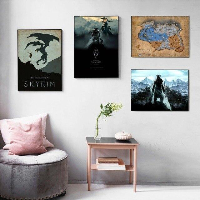 Картина на холсте  Skyrim -
