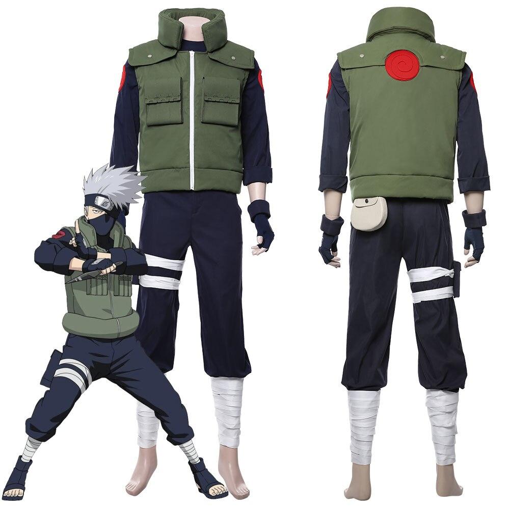 Naruto Hatake Kakashi Cosplay Costume Vest Full Suit Adult Halloween Carnival Costumes Custom Made
