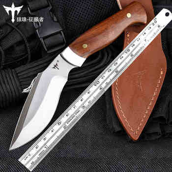 voltron Outdoor tactical straight knife, high hardness special forces field survival saber, wilderness portable cutter, stenzhorn new damascus black antelope folding knife outdoor portable field army high hardness wilderness survival small knives