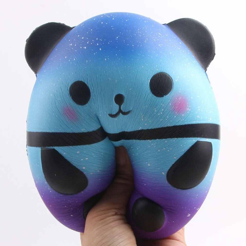 גלקסי רטוב פנדה Squish אנטי סטרס צעצוע חמוד כחול פנדה Squishi רומן מצחיק צעצועי ילדי Antistress איטי עולה מקרה