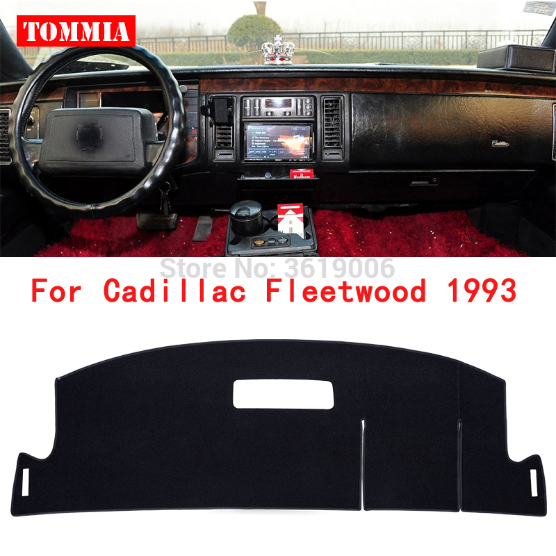 TOMMIA Interior Dashboard Cover Light Avoid Pad Photophobism Mat Sticker For Cadillac fleetwood 1993