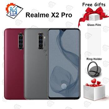 Перейти на Алиэкспресс и купить Мобильный телефон Realme X2 Pro Master Edition, 6,5 дюймов, 90 Гц, жидкий экран, 12 Гб + 256 ГБ, Snapdragon 855 Plus, камера, МП, NFC, смартфон