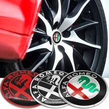Pegatina 3D de 56mm para rueda central de coche, accesorios para Alfa Romeo 159 147 156 Giulietta, 4 Uds.