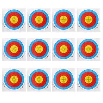 12 Uds profesional papel de blanco de tiro con arco para arco recurvo moño para arco... 40x40cm