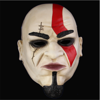 Game Cartoon God of War Kratos Cosplay 1/1 Terror Resin Mask Action Figure Model Toy X4578