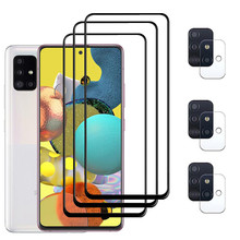 9D Protector de pantalla para Samsung Galaxy A51 A71 5G Protección de cámara suave de vidrio Samsung A 51 71 A52 A72 A32 Gafas protectoras para teléfono