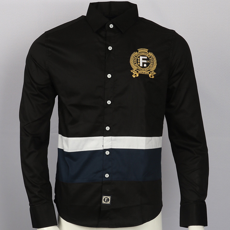 Embroidery shirt camisa masculina Men Long Sleeve Dress Shirts Cotton Social hombre eden park faconnable chemises Casual Shirts