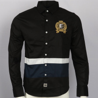 Embroidery shirt camisa masculina Men Long Sleeve Dress Shirts Cotton Social hombre eden park faconnable chemises Casual Shirts