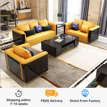 Sofa-Set Model-Room Post-Modern Solid-Wood Small-Sized Simple 123-Combination