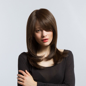 Image 4 - Long Straight Ombre Brown Ash Lolita Wigs Side Part For Women Afo Natural Daily Hair Wigs Heat Resistant Synthetic Wigs