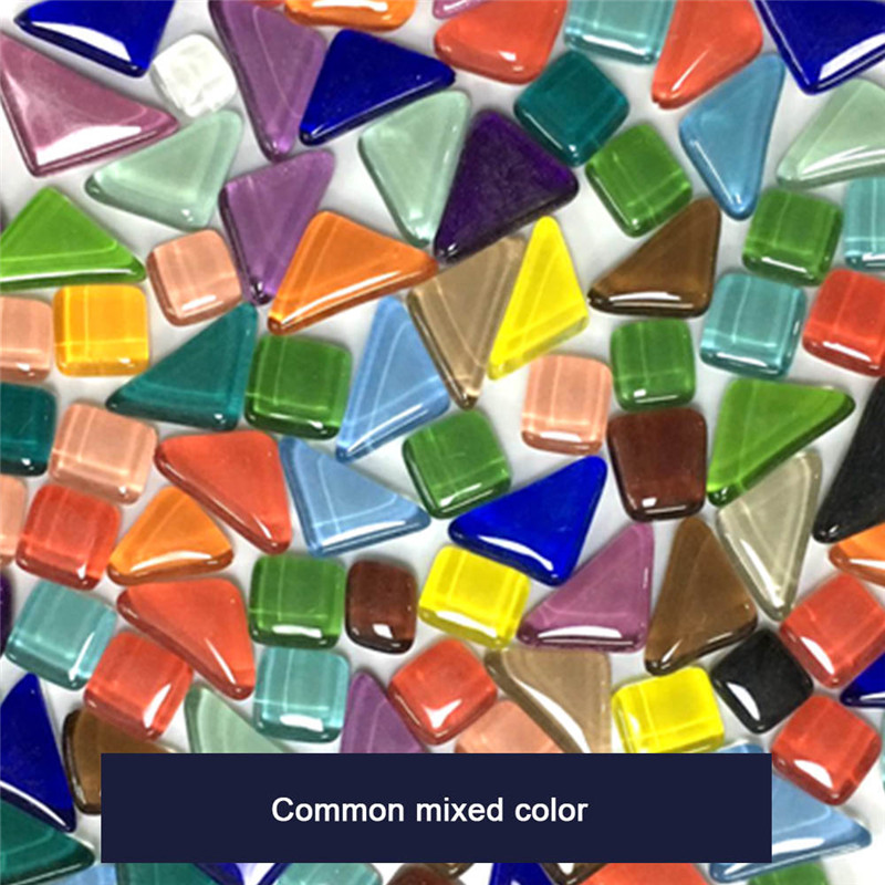 1kg Mixed Color Children Crystal Stone Glass DIY Creative Mosaic Handmade Material Collage Grain Mosaic Tiles Early Recognie Hot