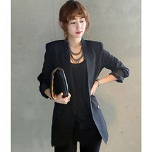 New Arrival Long Style Black Women Jacket and Blaz