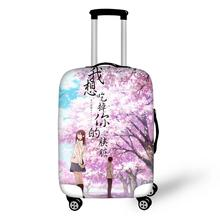 HaoYun Travel Luggage Cover I want to eat your pancreas Pattern Suitcase Cover Cartoon Elastic Dust-proof &Water-proof Protector eat your peas