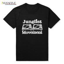 Drum and Bass Clubbing Turntables Decks Music DNB Man Junglist Movement T Shirts MenCotton O Neck Mens tshirt Tops Tees