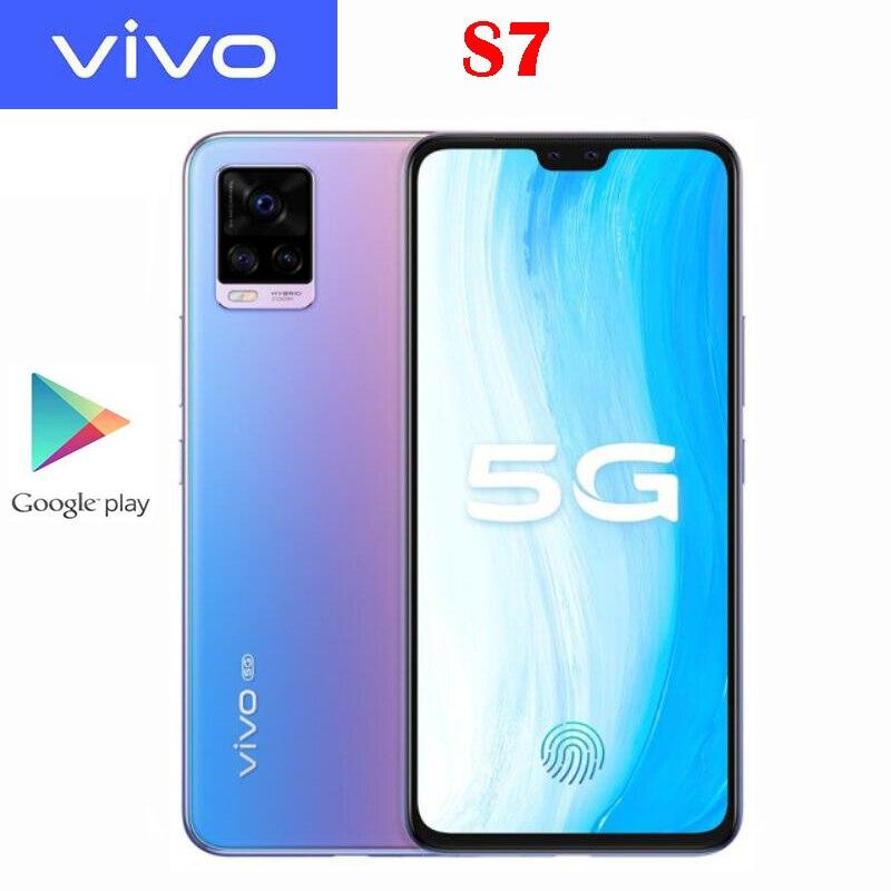 Оригинальный Новый Официальный VIVO S7 5G Смартфон Snapdragon 76 5G Octa Core 6,44 дюйма AMOLED 64.0MP Камера NFC 4000 мАч 33 Вт Быстрая зарядка